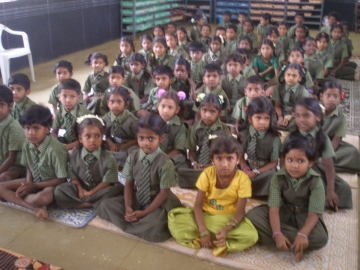Schulkinder in Tirupur